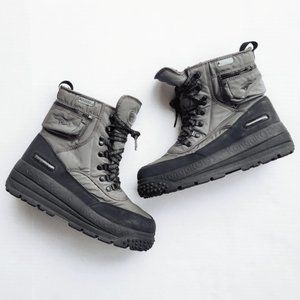 KangaROOS Roostex Gray Lace Up Insulated Mens Winter Black Snow Boots Shoes 8